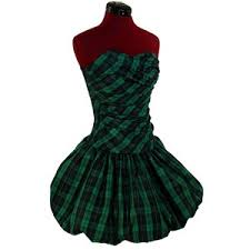 80s Prom Dress Pinupdresses Com Green Plaid Bubble Skirt 80s Prom Party Dre