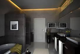 deckenle für badezimmer badezimmer grau mit abgehönter badezimmer decke bathroom