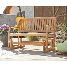 Teak Garden Table Amazon Com Sei Gideon Teak Patio Glider Bench Tools Products