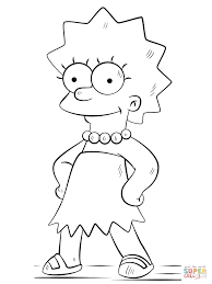 lisa simpson coloring page free printable coloring pages