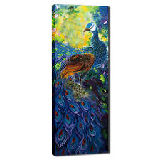 paintings for home decor abstract animal oil painting colorful peacock oil painting