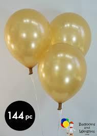 gold balloons 12 metallic gold balloons 144 pc balloons