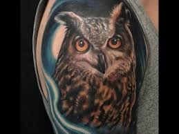 tattoo pictures of owls realistic great horned owl tattoo time lapse by london reese youtube
