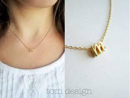 Personalized Script Necklace Tiny Gold Cursive Initial Necklace Gold Script Letter Charm
