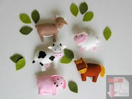 pattern felt ornaments farm animal mobile country crib mobile