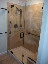 marvelous frameless sliding shower door rubbed bronze 88 on