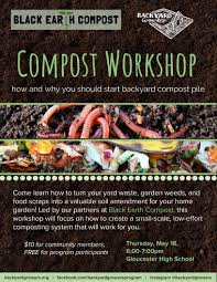 composting workshop with backyard growers and black earth compost