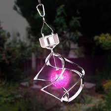 solar powered wind chime light solar led colourful wind spinner led hang spiral garden lawn