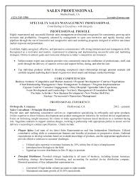 sales management professional resume
