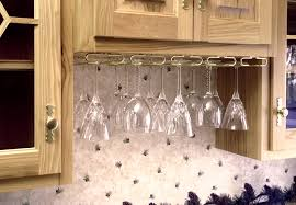 wine glass hanging rack under cabinet wine glass rack cabinet