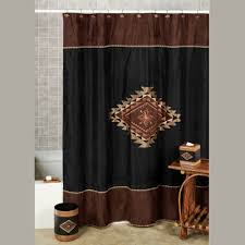 Southwest Shower Curtains Colton Faux Suede Southwest Shower Curtain