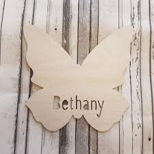 butterfly name plaque spencer brookes designs
