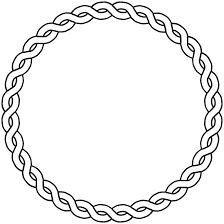 border circle dna black white art coloring book