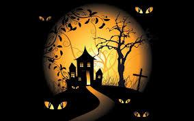halloween tree background halloween spooky digital art bats black background vector