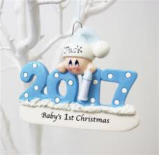 christmas ornaments baby personalised blue baby s 1st christmas ornament baby boy s 1st