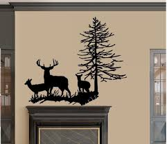 amazon com deer family with tree wall decal large 22 amazon com deer family with tree wall decal large 22