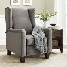 Grey Leather Living Room Chairs Dorel Living Better Homes And Gardens Grayson Wingback Pushback