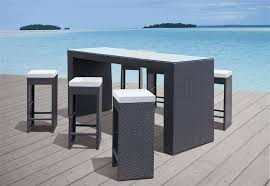 High Table Patio Furniture Partner New Style Cheap Outdoor Wicker High Top Patio Furniture