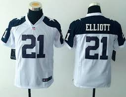 youth dallas cowboys 21 ezekiel elliott nike white color
