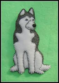 husky felt ornament search felt dogs and cats
