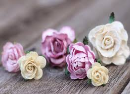 flower hair pins wedding flower hair pin lilac ivory flower hair bobby pins bridal