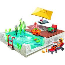 playmobil swimming pool with terrace walmart com