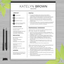 teachers resume template resume template for ms word educator resume writing guide