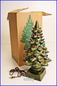 vintage 18 ceramic christmas tree w original box lighted 2 piece