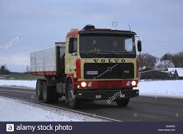 volvo highway trucks salo finland november 11 2016 volvo f12 hooklift dump truck