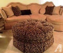 aico toledo sectional w chaise u0026 leopard ottoman lakeland for