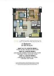 condo layout one uptown residence condos for sale megaworld fort