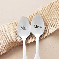 personalized spoons mr and mrs personalized spoon and groom gift idea wedding