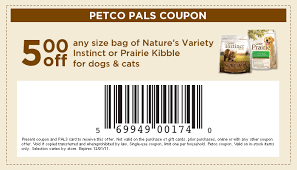 printable nature s recipe dog food coupons 5 off any size bag of nature s variety dog or cat food with petco
