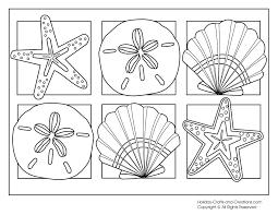 sea shells coloring pages virtren com