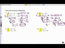 how to solve systems of equations elimination 1 youtube