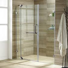 glass panel shower door vigo soho 24 in to 24 5 in x 70 625 in frameless pivot shower