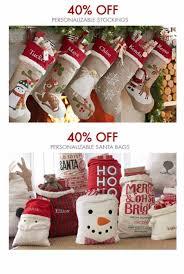 Pottery Barn Kids Stockings Deer Park Town Center 40 Off Personalizable Stockings U0026 Santa
