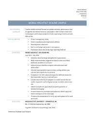design architect resume sample tiotala sample architect resume