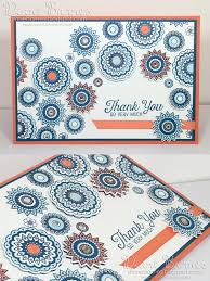 handmade thank you card using stampin up paisleys u0026 posies stamp