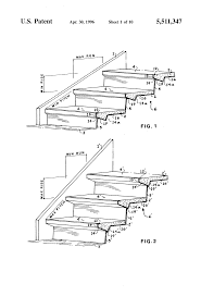 Stairs Standard Size by Patent Us5511347 Adjustable Sheet Metal Moulds For Steel And