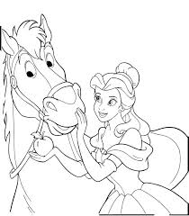 coloring sheets of a horse princess and horse coloring pages princess aurora love her horse