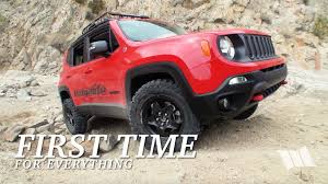 red jeep renegade 2016 first time lifted jeep renegade trailhawk u0026 stock jk wrangler