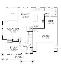 craftsman floor plan craftsman style house plan 3 beds 2 5 baths 2936 sq ft plan 48
