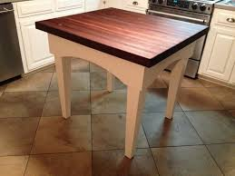 surprising woods butcher block island white legs with rustic