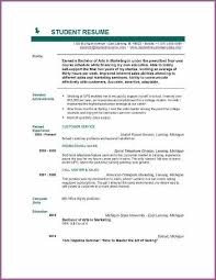 Best Looking Resume Template by Bright Idea Resume Templates For College Students 16 Best Ideas