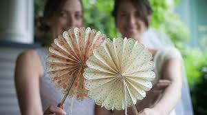 diy fans paper wedding crafts diy fans by lia griffith creativebug