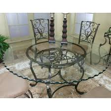 wrought iron dining table glass top glass top wrought iron dining table foter tables pinterest