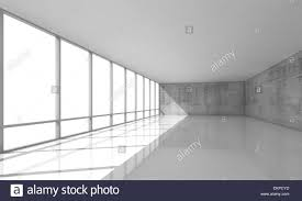 interior concrete walls abstract modern architecture background empty white open space