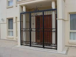 popular metal security doors with ornamental iron doors security