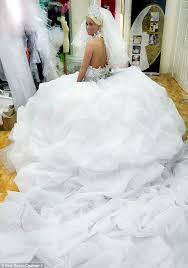 big wedding dresses traveller hopes to leave kate middleton in the of